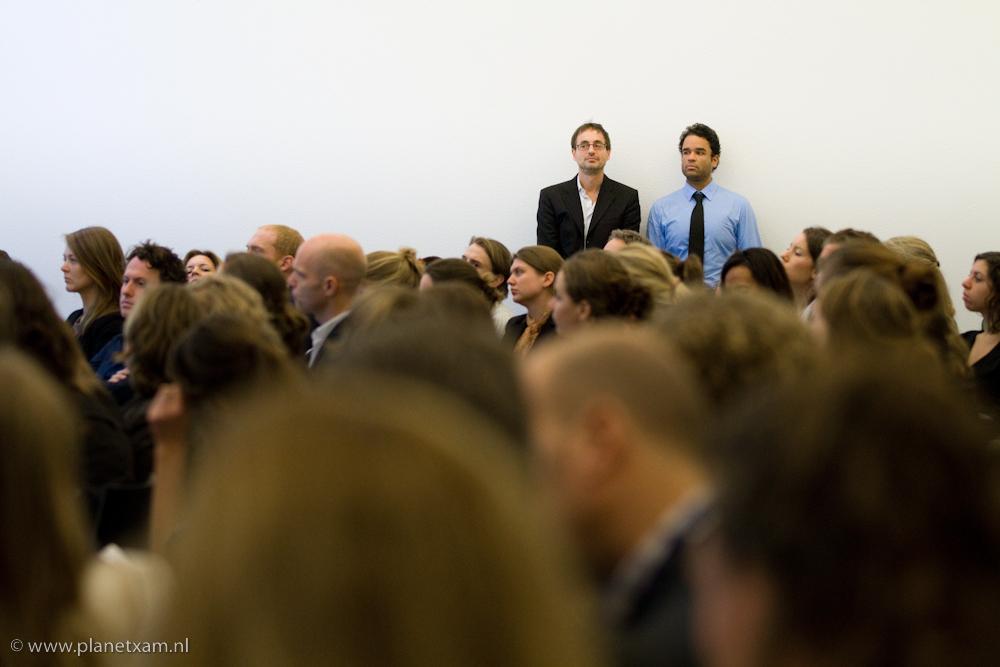'Presentatoren' bij A Call to Action wachten op hun beurt.